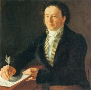 Portrait of Louis Spohr by Johann August Nahl the Younger, 1824
