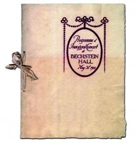 Bechstein Hall programme