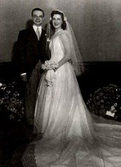 Wedding picture Dede and Astor Piazzolla