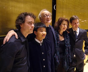 With Alfred Brendel, Paul Lewis, Kit Armstrong, and Till FellnerCredit: https://i.guim.co.uk/