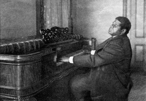 Blind Tom at the piano