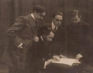 Henri Casadesus, Lucien Capet, Marcel Casadesus, Maurice HewittCredit: Wikipedia