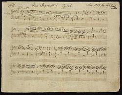 The autograph manuscript of Schubert's Impromptu in f minor, Deutsch 935 No. 1