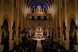 The Tallis Scholars performing at the Church of St. Mary the Virgin in Manhattan. Credit Karsten Moran for The New York Times