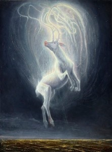 An enchanted stag by Agostino Arrivabene