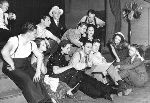 Blitzstein and the cast of The Cradle Will Rock (1937)