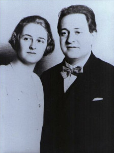Korngold and Luzi on their wedding day