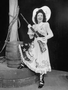 Annie Oakley (Ethel Merman) in Annie Get Your Gun
