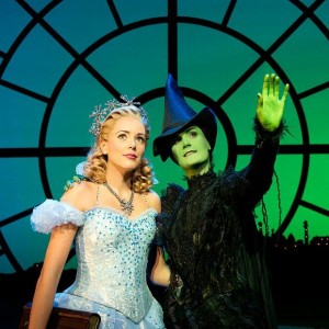 Galinda and Elphaba in Wicked