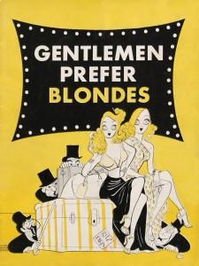 Al Hirschfield's illustration for Gentlemen Prefer Blondes (1949)