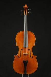 Lapo's award-winning viola, front and back