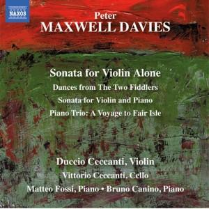 peter maxwell davies sonata for violin alone image