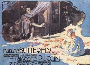 Adolfo Hohenstein: Poster for Madama Butterfly