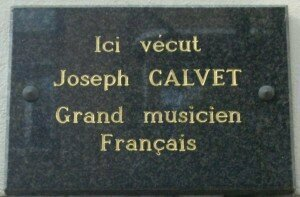 Joseph Calvet Memorial Plaque (at 2 Rue Gervais in Paris 17e) Credit: Wikipedia