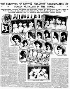 Fadettes in a Pittsburgh, PA, newspaper in 1909