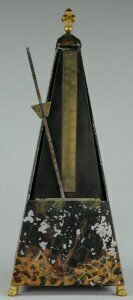 An example of the first patented model of the Maelzel Metronome, made in Paris around 1816. Credit Tony Bingham/Basel Historical Museum