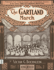 The Fadette Orchestra on the cover of The Gartland March