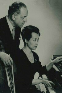 Gaspar Cassadó and Chieko Hara
