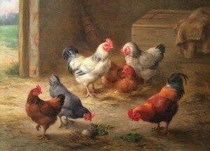 Edgar Hunt: Pecking Order (1876)