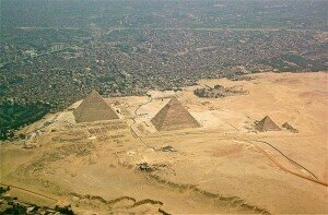 The Giza Plateau with Cairo