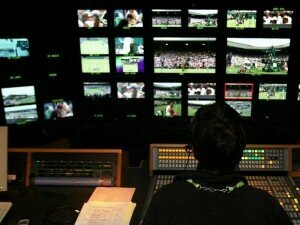 The BBC gallery during live coverage of Wimbledon