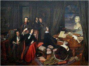 Franz Liszt and Admirers