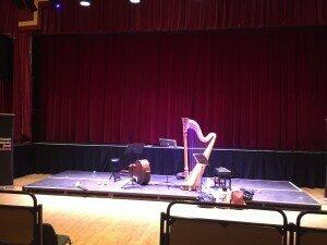 Post-rehearsal snap at Falkirk Town Hall