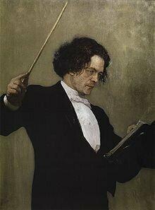 Painting of Anton Rubinstein  by Repin