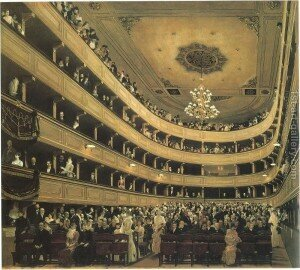 Auditorium in the Old Burgtheater, location of the premiere of Le Nozze di Figaro
