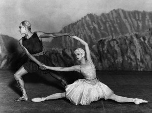 28 Jun 1928 --- Russian ballet dancers Alexandra Danilova and Serge Lifar in the ballet . --- Image by © Hulton-Deutsch Collection/CORBIS