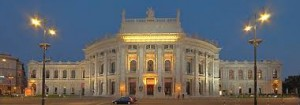 Exterior of Burgtheater in Vienna, location of the premiere of Le Nozze di Figaro