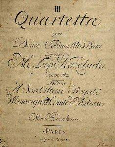 Leopold Koželuch manuscript