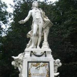 Statue of Wolfgang Mozart, composer of Le Nozzi di Figaro