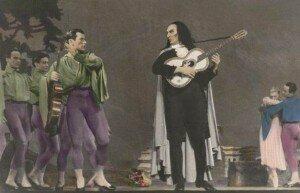 Scene from Fokine's Paganini with Dimitri Rostoff as Paganini (1940)