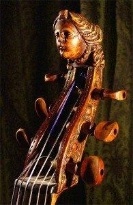 Scroll of a viola da gamba