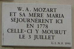Paris Maison of Mozart