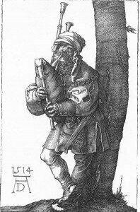 Peasant Cantata. Dürer: Bagpiper