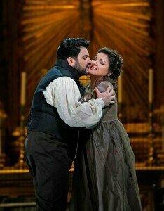 Yusif Eyvazov (Cavaradossi) and Anna Netrebko (Tosca)© Ken Howard | Metropolitan Opera