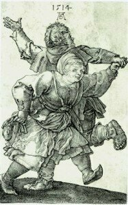 Peasant Cantata; Albrecht Dürer: Peasant Couple Dancing (1514)