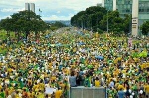A protest in Brazil in 2016. AGÊNCIA BRASIL FOTOGRAFIAS/CC BY 2.0