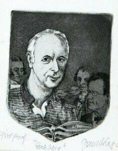 Portrait of George Rochberg by Fritz Janschka