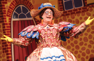 Kenneth Alan Taylor as dame Daisy in Jack and the Beanstalk in 2013. © Robert Day