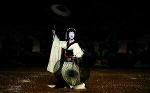 Nakamura Kazutaro in a woman's role in kabuki