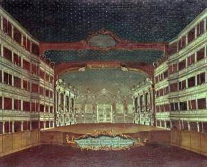 Interior of the San Samuele Theatre, Venice (oil on canvas)