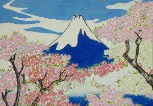 Spirit Of Ukiyo-e Illuminated By Stunning Nature by Sawako Utsumi