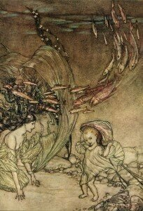 Arthur Rackham, illustration for the story Undine (1909)
