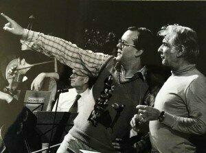 Humphrey Burton with Leonard Bernstein