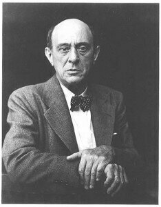 Arnold Schoenberg, composer of the Five Pieces for Orchestra
