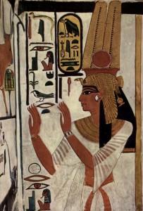 Misirlou Wall painting of Nefertari © brewminate.com