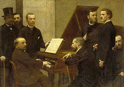 Around the piano (Emmanuel Chabrier at the piano) by Henri Fantin-Latour